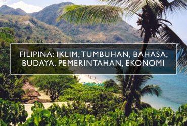 Filipina: Iklim, Tumbuhan, bahasa, budaya, pemerintahan, ekonomi